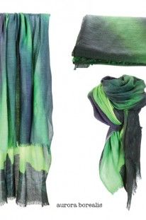 Scarf aurora borealis from collection fragments of Norway