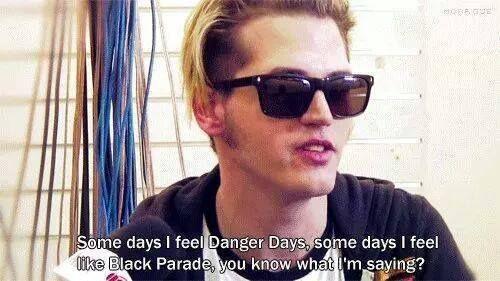 some days i feel black parade