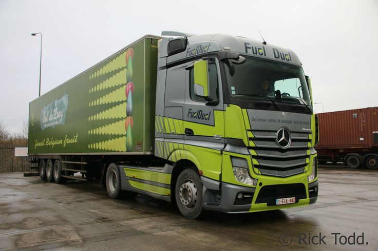 Saw this mercedes actros 1842 mp4 operated by bel 39 de for Mercedes benz belgium