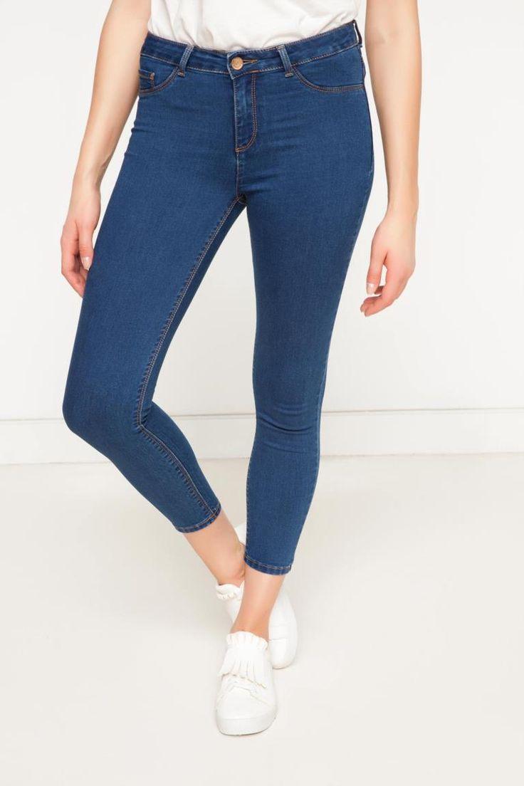 DeFacto Çivit Mavisi Kadın Skinny Denim Pantolon 1