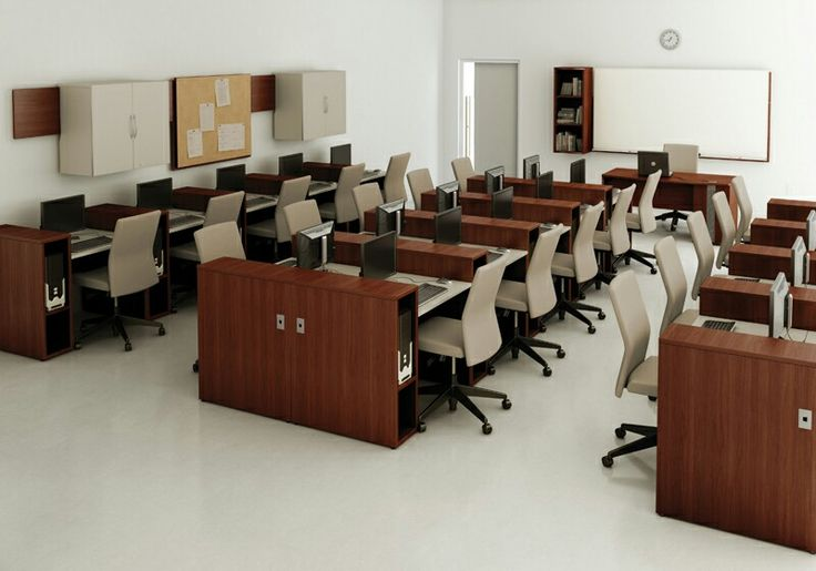 Computer lab and training center computer training rooms for Room smart furniture houston