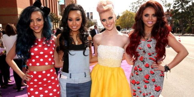 Love Leigh-Anne's hair like this. OMG Jade looks like Minnie Mouse