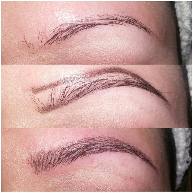 Before and after Microblading @custom faces by kandice https://www.facebook.com/pages/Custom-Faces-by-Kandice/140192586164260