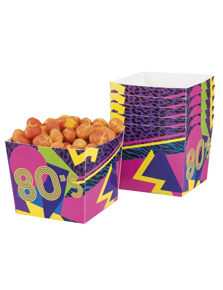 6 scatole porta caramelle in cartone 80's Party su VegaooParty, negozio di articoli per feste. Scopri il maggior catalogo di addobbi e decorazioni per feste del web,  sempre al miglior prezzo!
