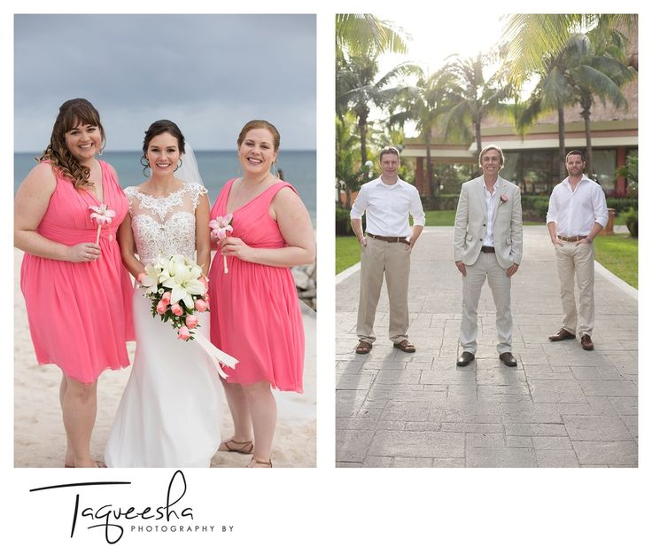 destination wedding party photos  Grand Bahai, Riviera Maya  Photography by Taqueesha