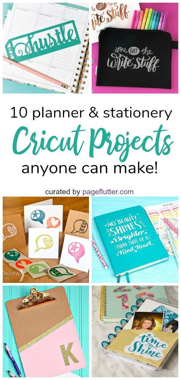 10 Planner Friendly Cricut Projects Anyone Can Make Page Flutter Planner Stationery Cricut Projects Beginner Cricut Projects Vinyl