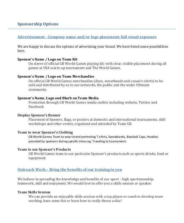 Sponsorship Proposal Templates   15+ Free Printable Word