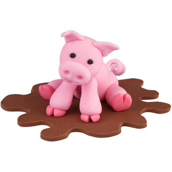 Wilton 3D characters...  cute for a barnyard cake.