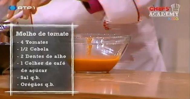 Molho caseiro de tomate