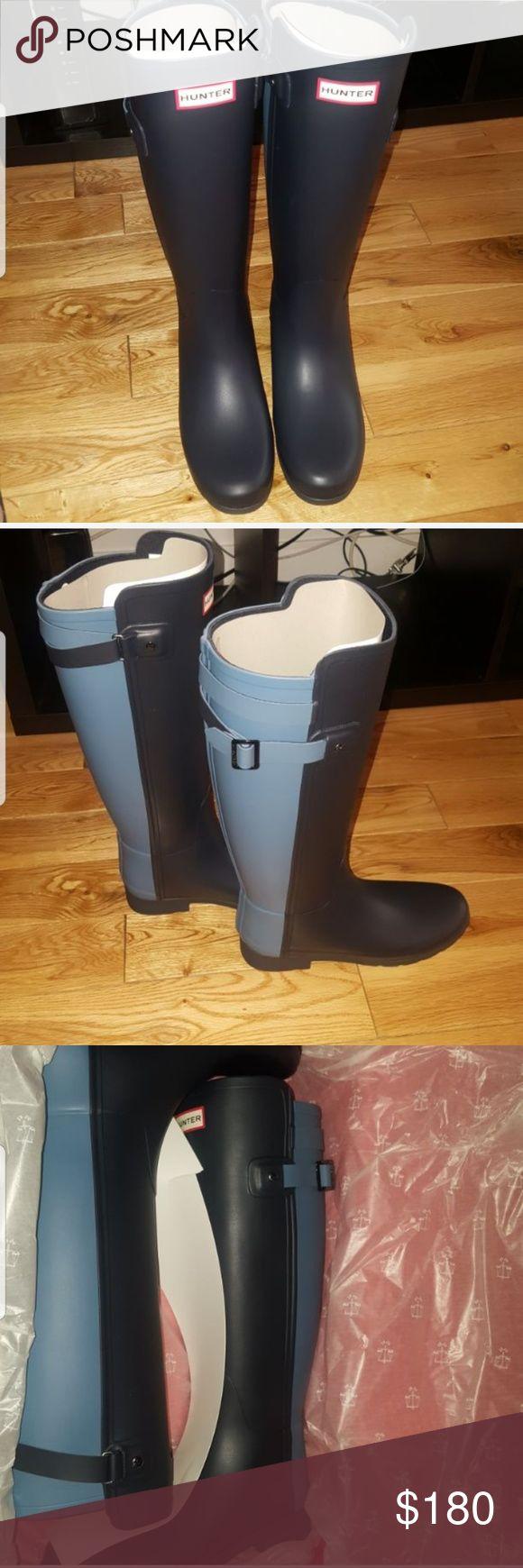 Hunter Rain Boots Two toned Hunter Rain boots for sale Hunter Boots Shoes Winter & Rain Boots