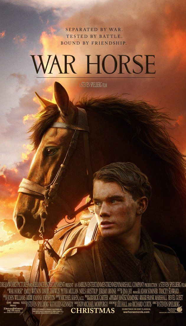 Directed by Steven Spielberg.  With Jeremy Irvine, Emily Watson, David Thewlis, Benedict Cumberbatch. Young Albert enlists to serve in World War I after his beloved horse is sold to the cavalry. Albert's hopeful journey takes him out of England and to the front lines as the war rages on.