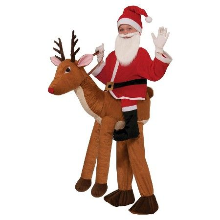Kids' Santa Riding a Reindeer Costume - One Size Fits Most : Target