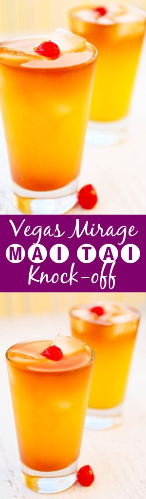 The BEST Mai Tai - Mirage Vegas knock-off | This tastes EXACTLY like the famous Mirage Mai Tai. It is soooo delicious.