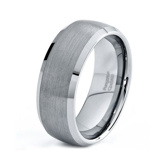 Ultimate Metals Co. Men's Women's Black Ceramic Unisex Wedding Band Ring with Wood Inlay, 8mm Comfort Fit Sizes 5-15