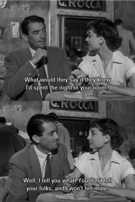 Roman holiday. My favorite Audrey movie                                                                                                                                                                                 More