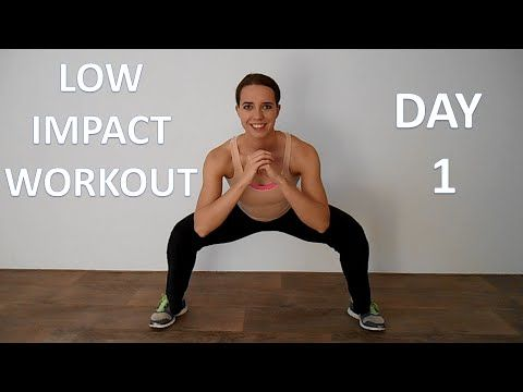 Low Impact Workout Series 1 – Day 1 – Beginner Cardio Workout with Low Impact On Tendons And Joints - YouTube