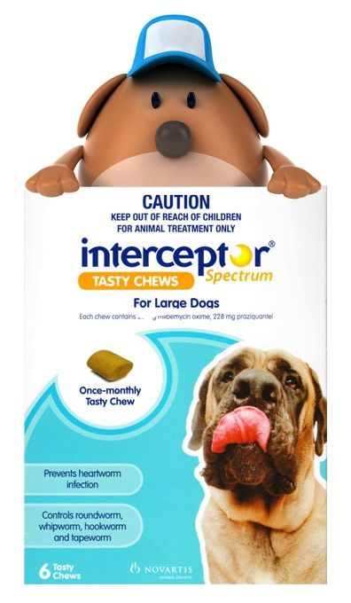 Interceptor Spectrum chewables without prescription. Buy Interceptor heartworm meds from http://www.tatochip.com/interceptor-spectrum-for-dogs