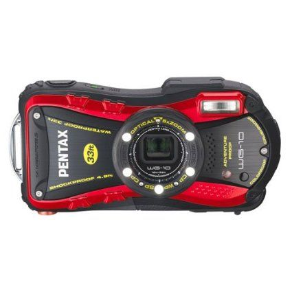 Amazon.com: PENTAX Water Proof Digital Camera PENTAX WG-10 Red 1cmMacro Macro Stand PENTAX WG-10RD: Camera & Photo