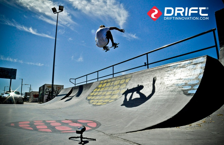 Skateboarding with the Drift HD Ghost.