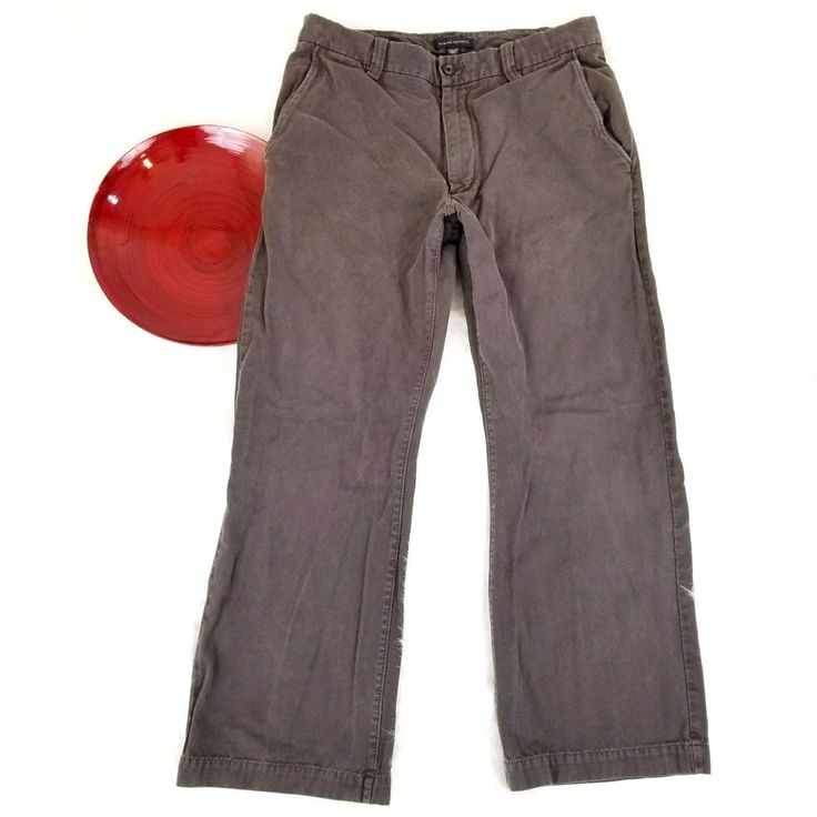 Banana Republic Mens Pants Size 34x30 Brown Twill Chino Khakis Straight o463 #BananaRepublic #KhakisChinos
