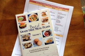 GAPS - Grain Free Meal Plans, a menu service, includes:     Menu plans for 3 meals a day, 7 days a week, plus snacks and sweets     Kid-tested recipes     Complete shopping lists