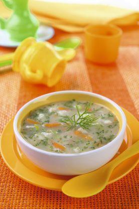 przepis na obiad dla dziecka – zupa koperkowa z kluseczkami