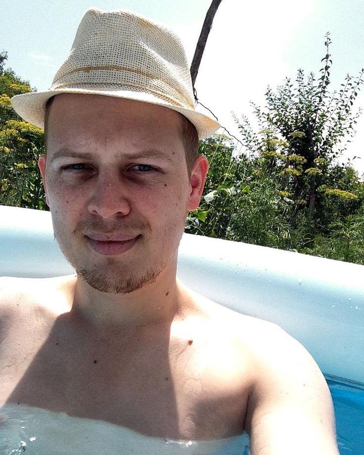 Country Selfie in the Pool   #nofilter #selfie #enjoylife #summer #country #hot #water #hat #instagood