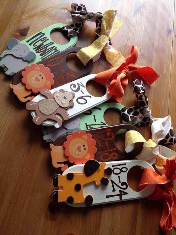 great baby gift! Hand Painted Closet Dividers {For Sweet Baby's Nursery} on Etsy, $38.00
