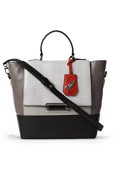 DVF | The small 440 Top Handle stachel with luxe embossed lizard detail is the statement bag of the season. http://on.dvf.com/1ap4HbS