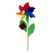 Brightly coloured Seedling windmills!