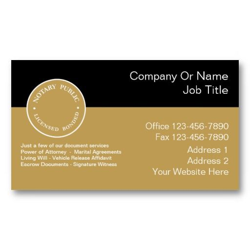 25 best notary public business cards images on pinterest for Notary business card examples