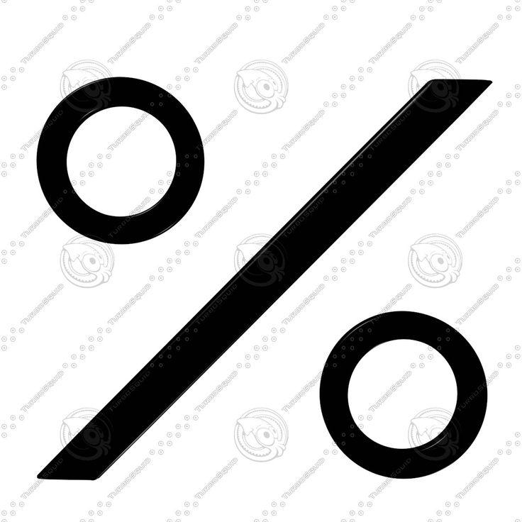3D Model Percent Sign - 3D Model