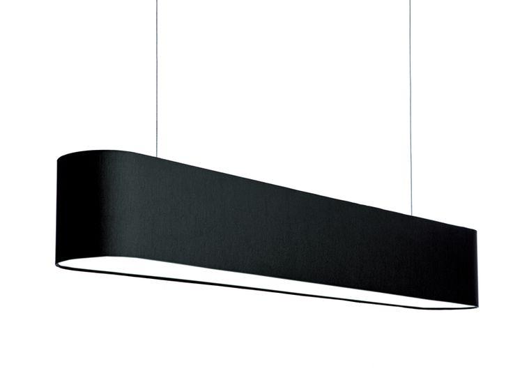 FlabFAB acoustic textile pendant (120 cm) - black