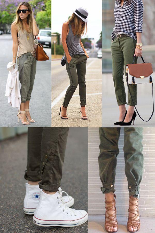 El verde khaki es el color de tendencia para esta primavera-verano 2015. Parte del look safari, queda genial con accesorios de estilo étnico