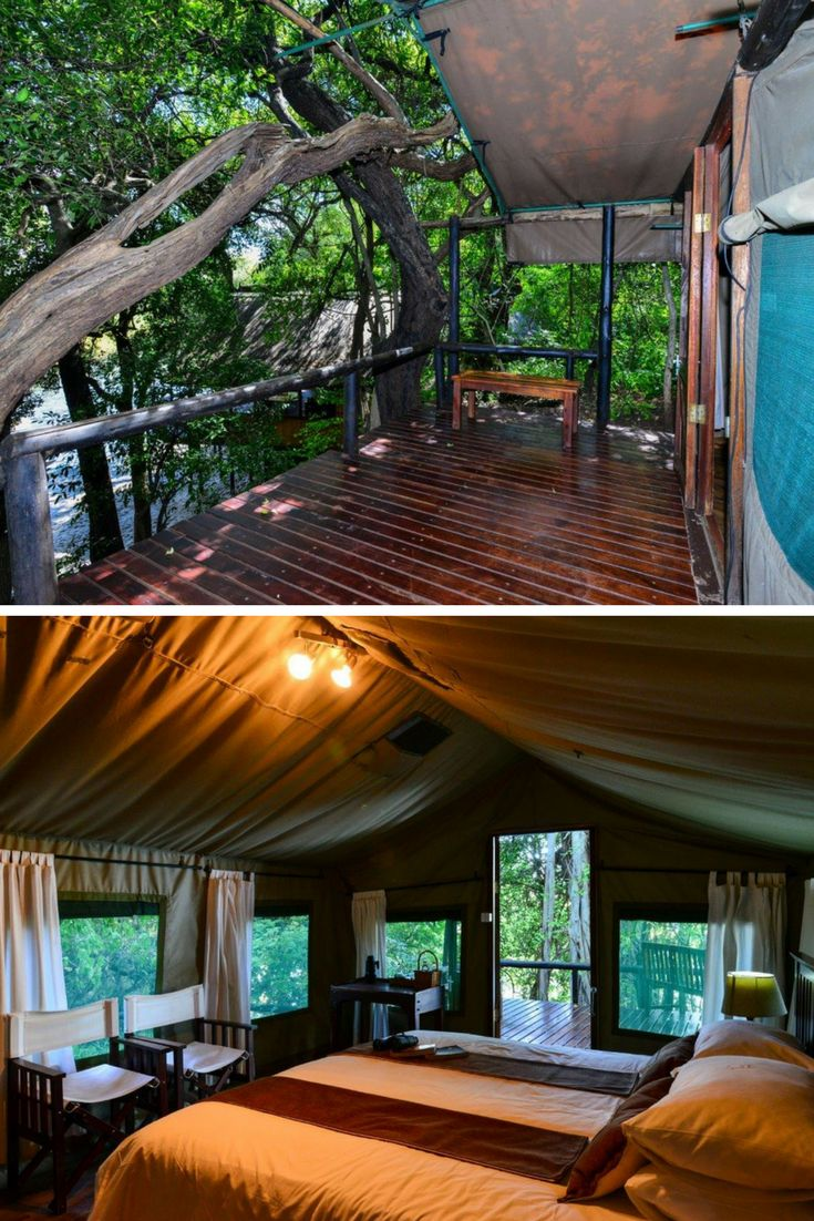 Fall asleep to the sounds of the Chobe River flowing past you in the comfort of your king-sized bed at Ichingo Chobe River Lodge.   #SafariDreams #TentedSafari #IchingoChobeRiverLodge #ZambeziQueenCollection