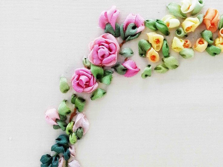 Tour Embroidery Ribbon Garland Online Tutorial Lesson 6 of 8: Rose