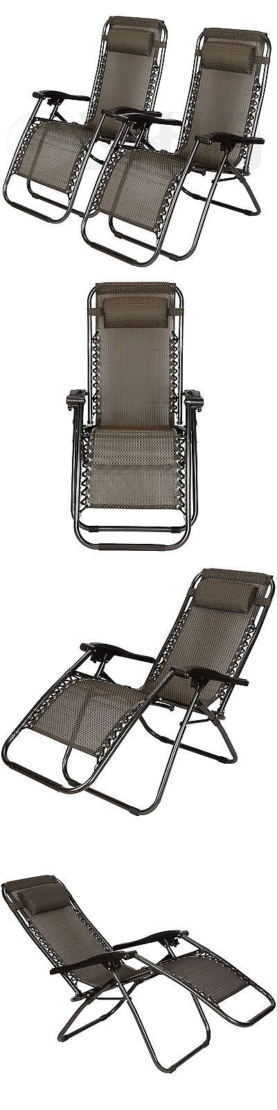Lounges 79684: Zero Gravity Chairs Case Of (2) Folding Lounge Patio Chairs Outdoor Yard Beach -> BUY IT NOW ONLY: $66.9 on eBay!