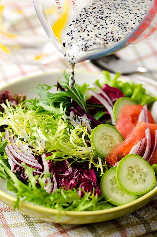 Black Sesame Salad Dressing by omnivorescookbook #Salad_Dressing #Black_Sesame