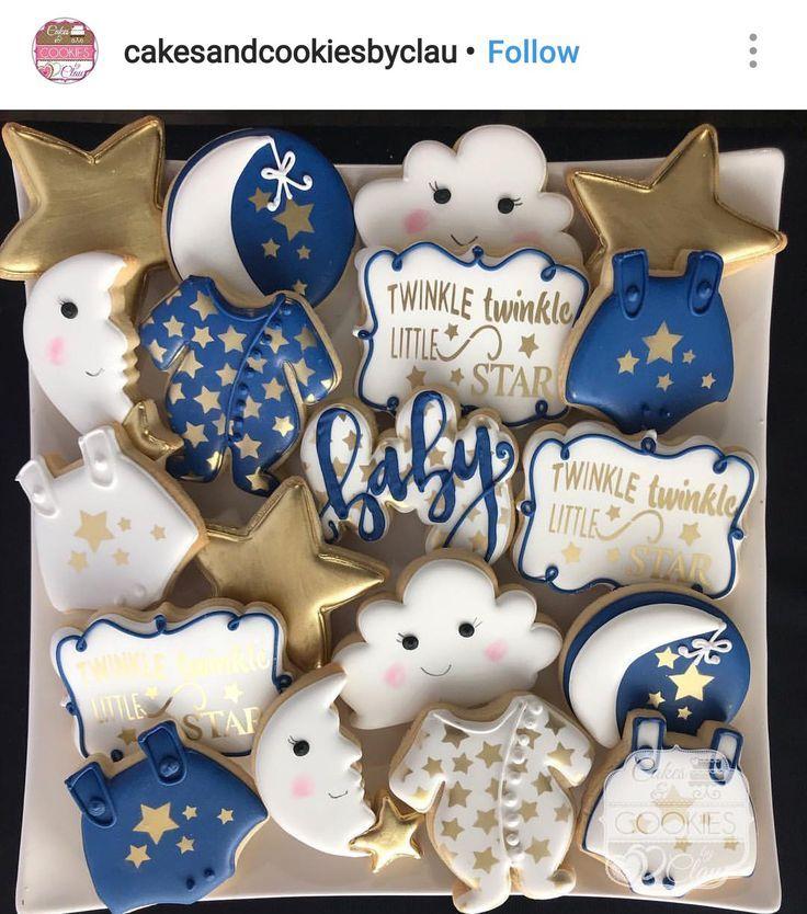 Twinkle Twinkle kleiner Stern Benutzerdefinierte Babyshower Cookies – #Babyshowe…