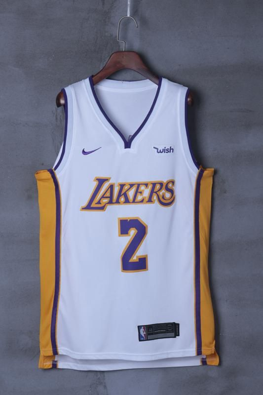 best service 8780a 38d19 Los Angeles Lakers Lonzo Ball #2 Basketball Team Jersey ...