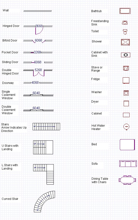Best 25 floor plan drawing ideas on pinterest floor for Architectural floor plan symbols