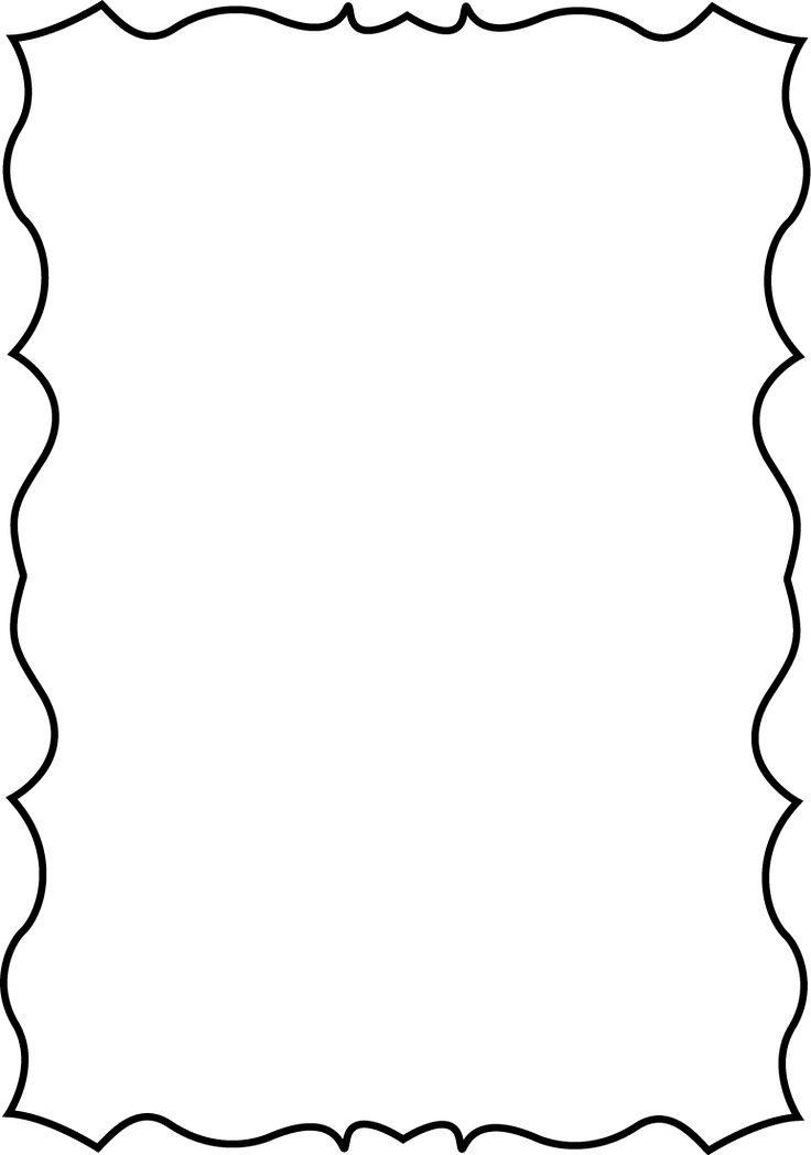 Squiggle Page Border | Border designs | Pinterest | Clip art ...