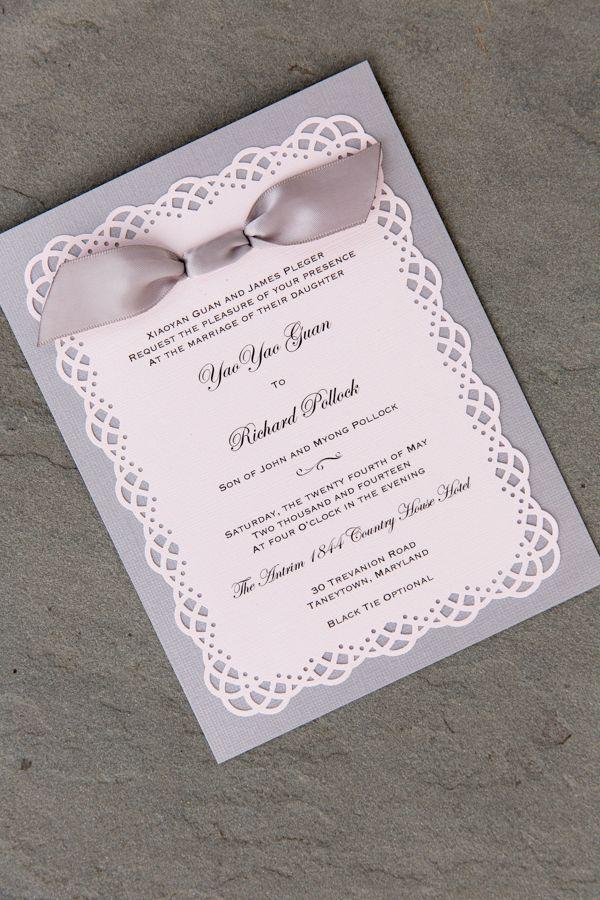 Procopio Photography.; Romantic Maryland Wedding At Antrim 1844 from Procopio Photography. - wedding invitation