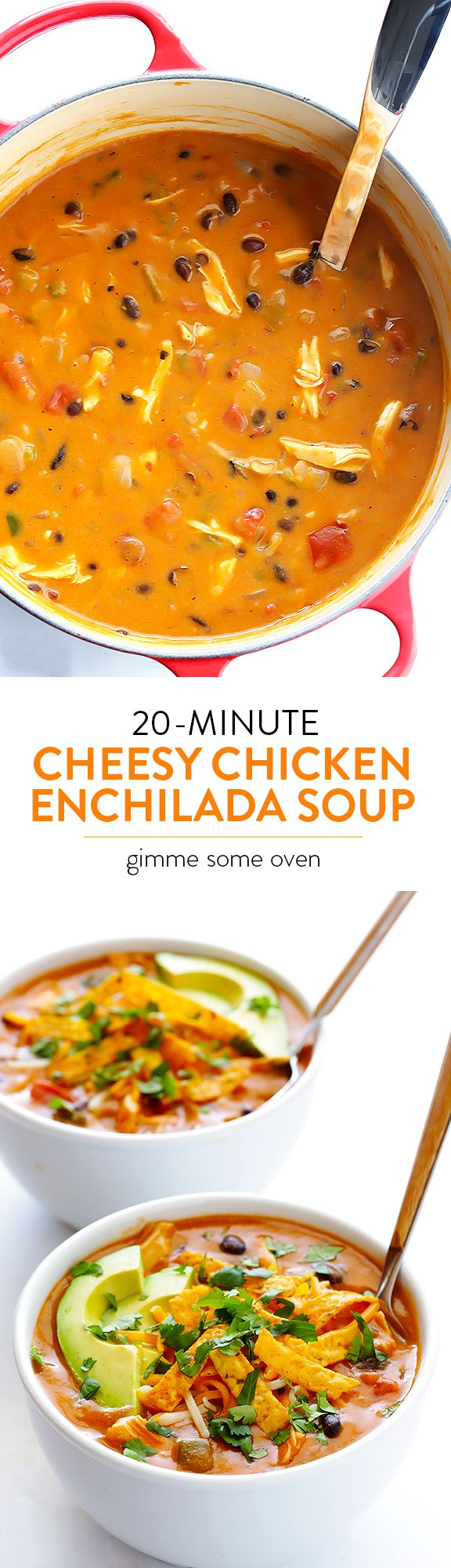 This delicious and flavorful soup is super-easy to make, and it's ready to go in about 20 minutes!  Even better!! | gimmesomeoven #soupson