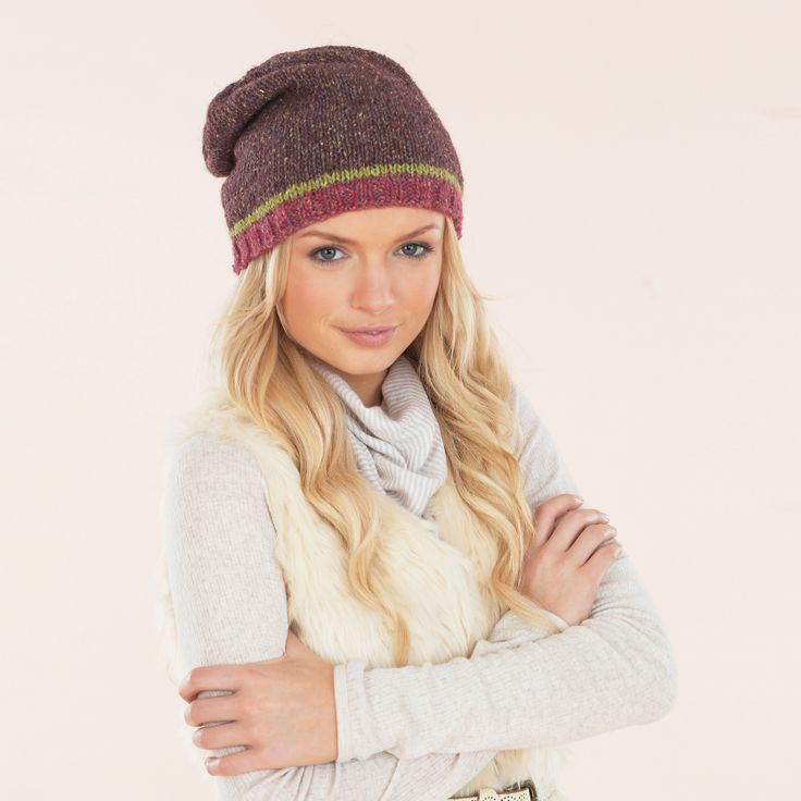Slouchy and tweedy - knitted in Sublime Luxurious Aran Tweed