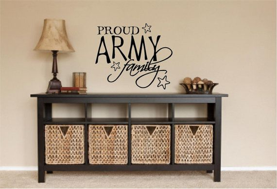Proud Army Family Military Quote Vinyl Wall Art Design on