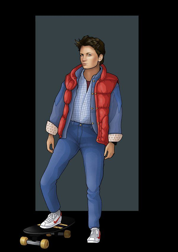 best 25 marty mcfly ideas on pinterest back to the future michael j fox and marty mcfly costume. Black Bedroom Furniture Sets. Home Design Ideas