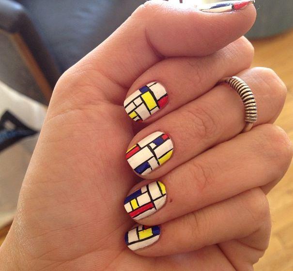 Piet Mondrian #manicure #tutorial on LEAFtv --> http://www.youtube.com/leaftv