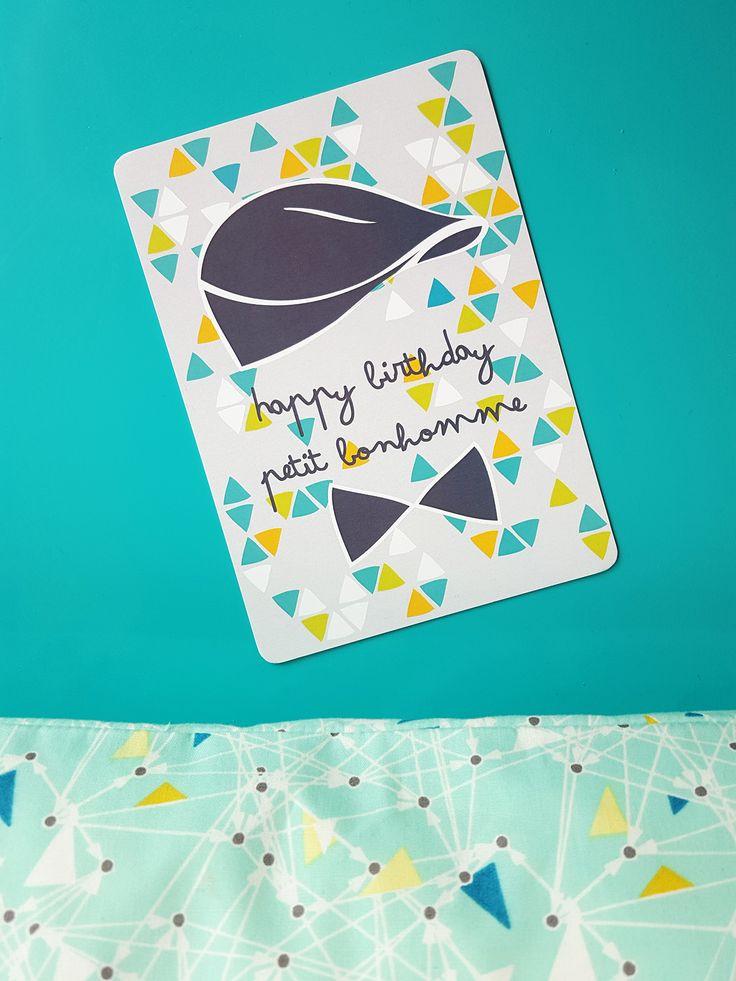 Carte d'anniversaire enfant Loulou un peu rétro | Pigment des Belettes