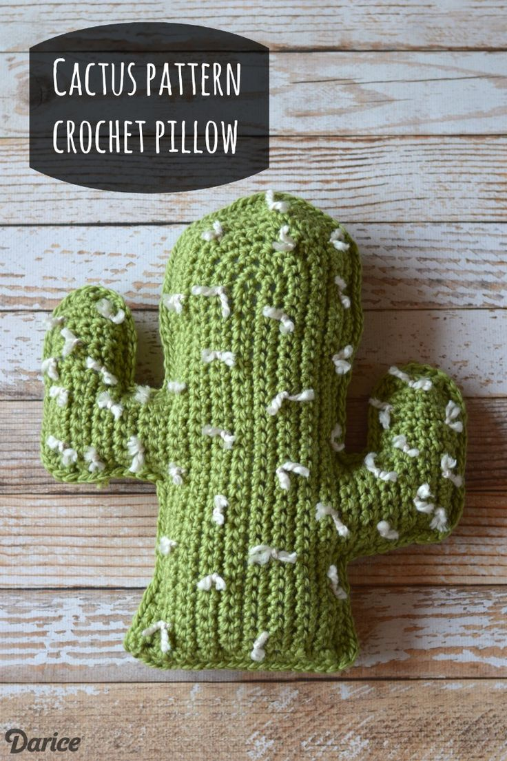 Get inspired to create for warmer weather with this crochet cactus pattern. You can create a not-so-prickly pillow with this free crochet pattern.